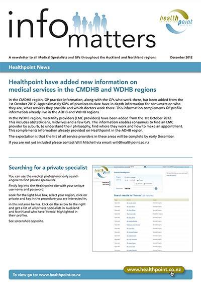 Info Matters – December 2012
